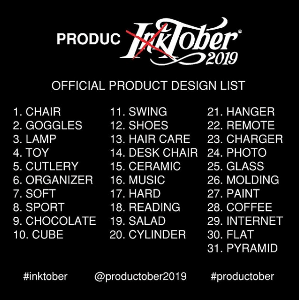 from inktober to productober drawing list.png