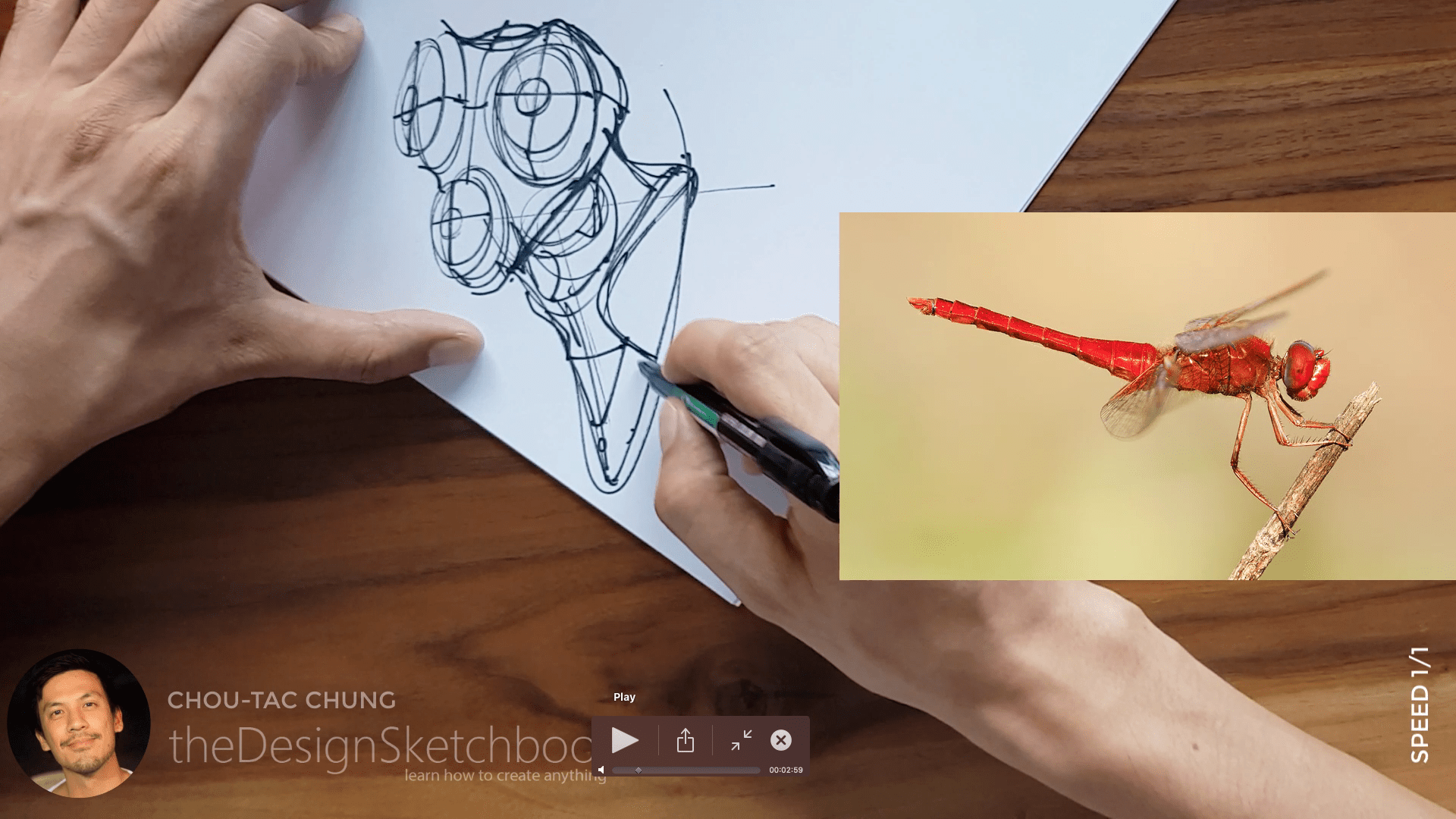 Sketching an electric shaver PHILIPS with the pilot twin marker pen - the design sketchbook - chung chou tac b3