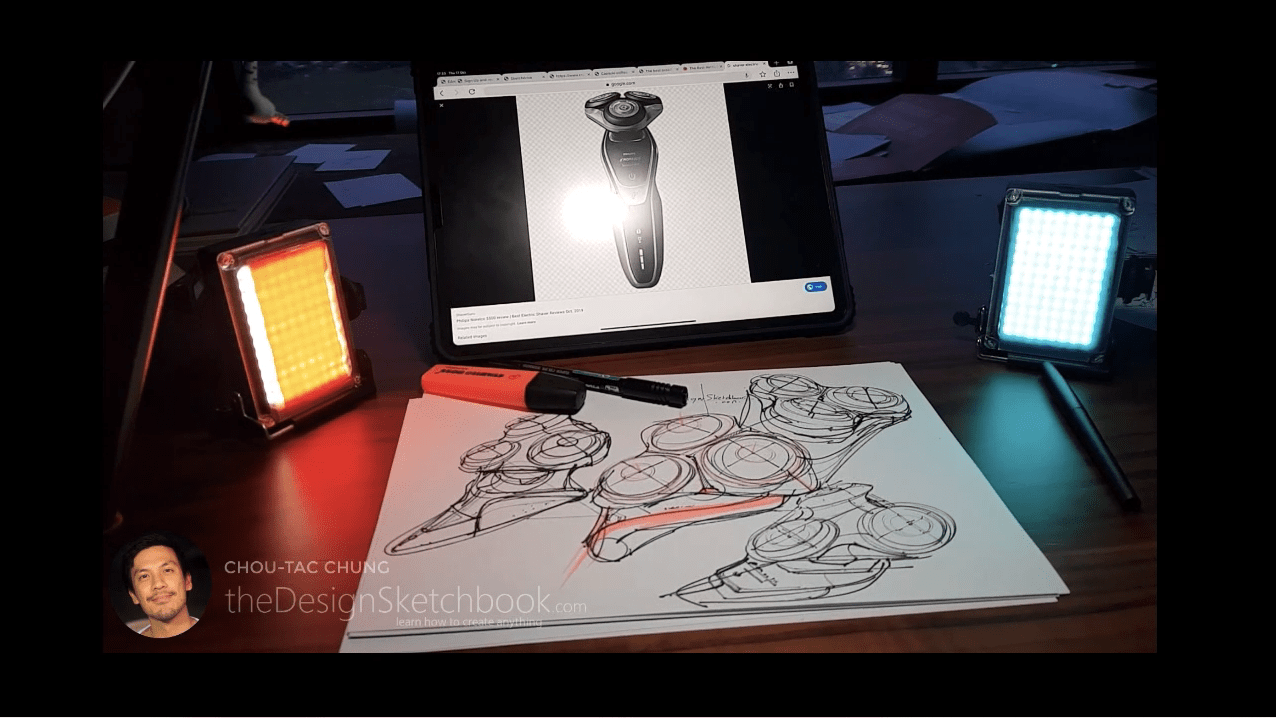 Draw your Sneaker design with a Dynamic style! with your ball point pen - The Design Sketchbook - Design sketching tutorial - Chung Chou-Tac c