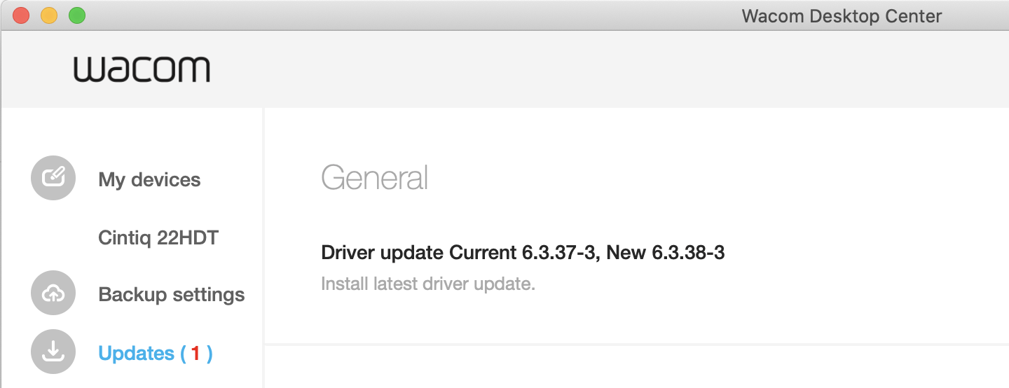 Wacom driver 6.3.38-3 update not working lag cintiq 22 hd