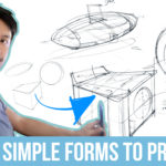 From sketching 3 Simple Forms to Product Design!