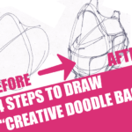 "4 Steps to draw ""Creative Doodle Bags"""