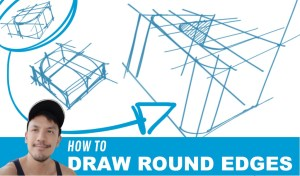 How to draw round edges step-by-step video tutorial