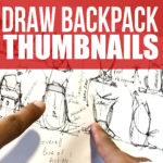 How to draw multiple backpack designs with thumbnails
