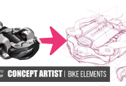 How to draw a bike pedal with digital tablet