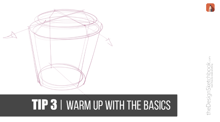 warm up with the basics of perspective sketching