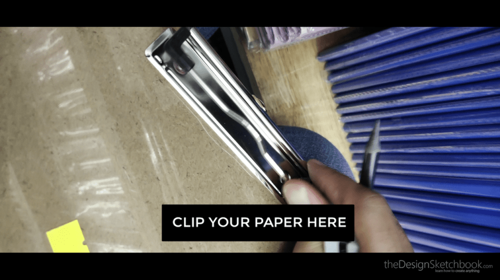 clip your paper here on the pad
