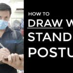 How to Draw with Proper Standing Posture