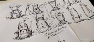 How to draw many ideas with thumbnails: BackPack