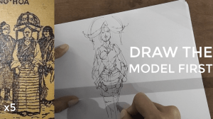 how to draw a body - character design sketching Draw the body first