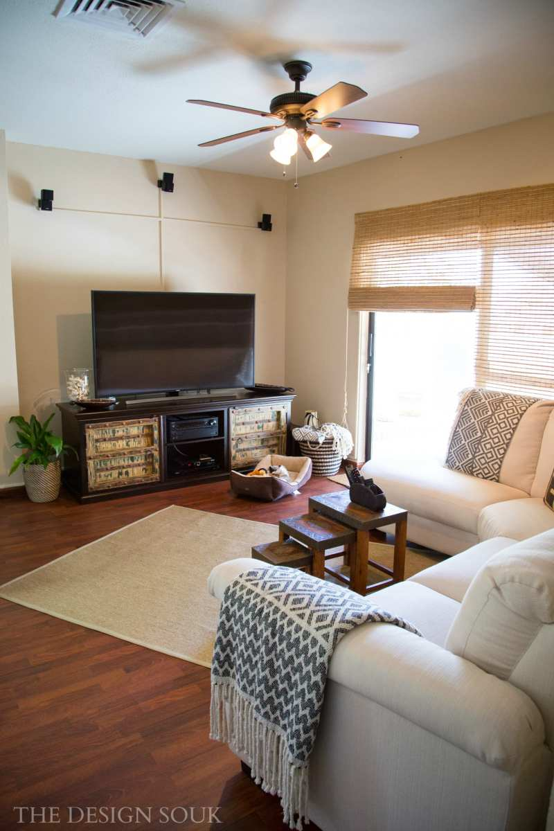 An African Chic TV Room Makeover