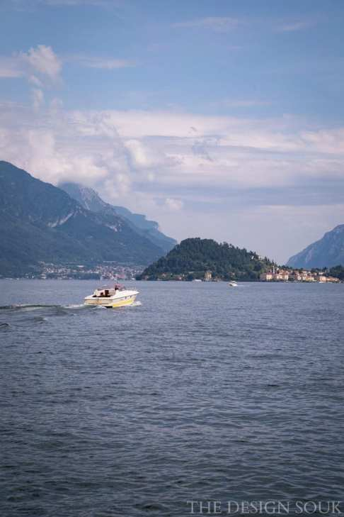 Boats out on Lake Como