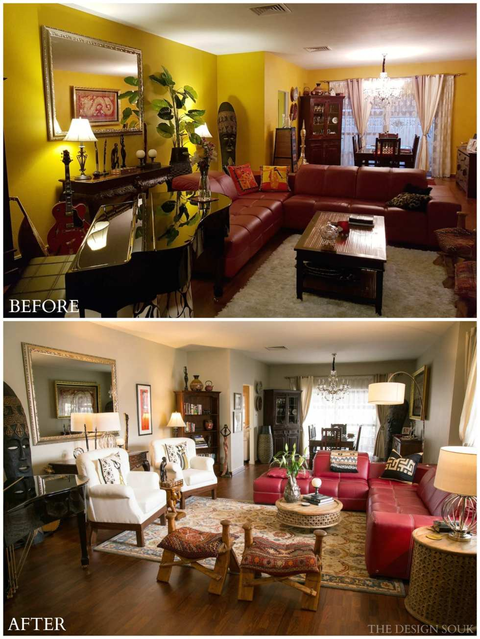 A Living Room Makeover BEFORE & AFTER | THE DESIGN SOUK | www.thedesignsouk.com