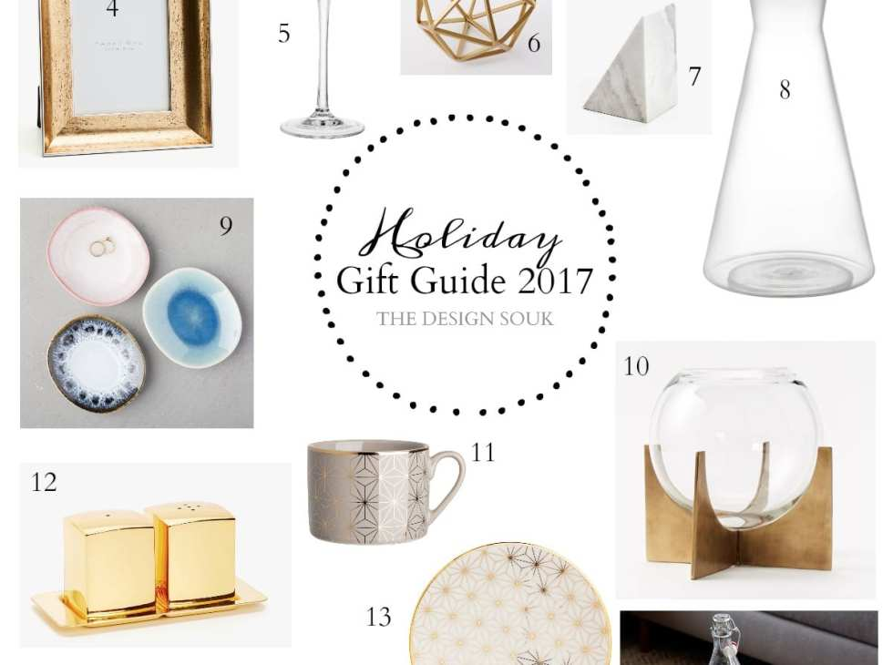 Holiday Hostess Gift Guide 2017 | THE DESIGN SOUK | www.thedesignsouk.com