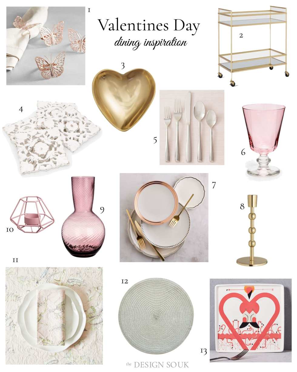 Valentines Day Dining Inspiration | THE DESIGN SOUK | www.thedesignsouk.com