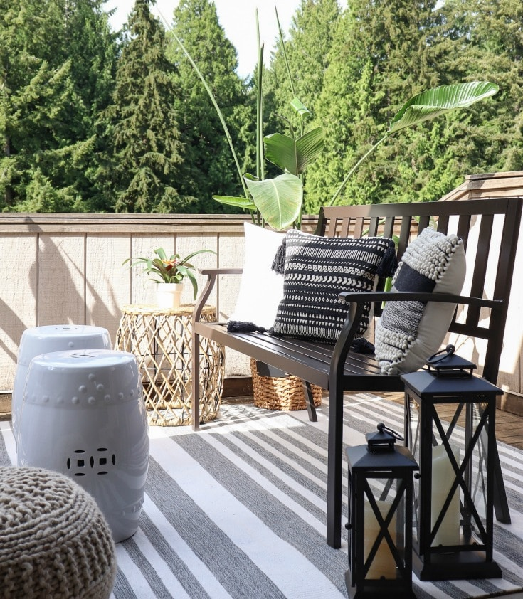 small patio space