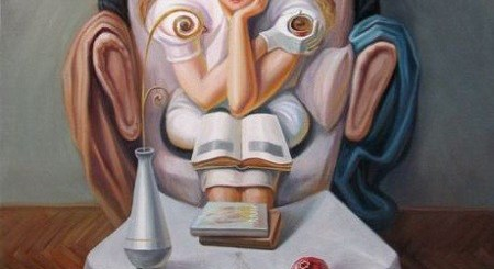 Optical Illusion Oil Painting