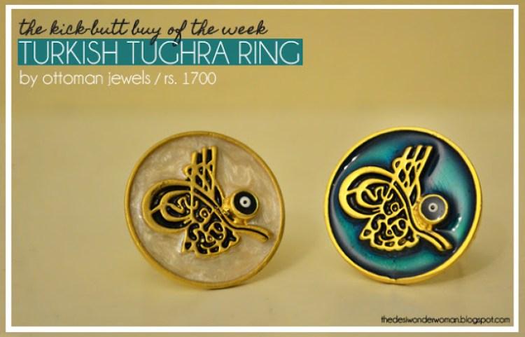 Pakistan Kick Butt Buy Of The Week Turkish Tughra Ring By Ottoman