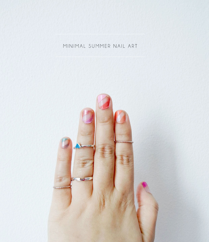 Minimal Summer Nail Art - The Desi Wonder Woman