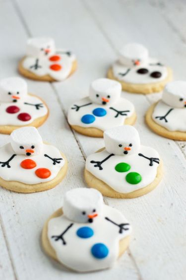 melted snowman christmas snack