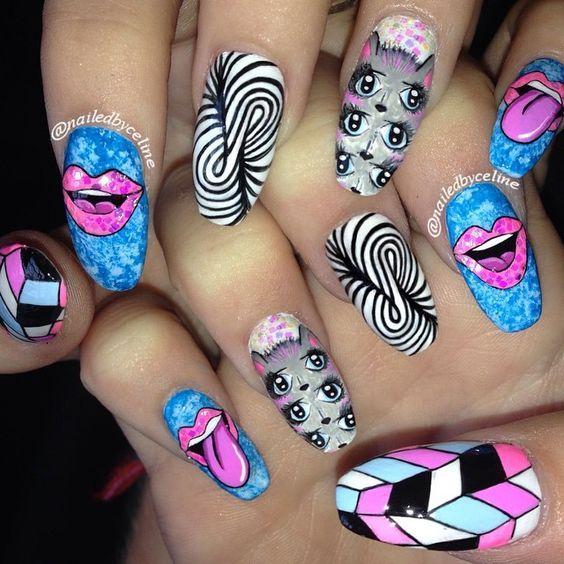 trippy nail art