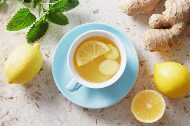 fresh ginger iced tea