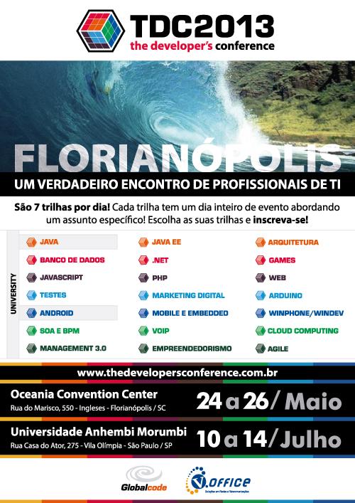 Cartaz TDC2013 - Florianópolis