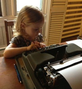 That's my daughter Maddy. She types faster than I do, but it's in her own language.