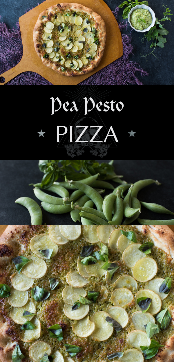 Make your homemade pizza unique with pea pesto!