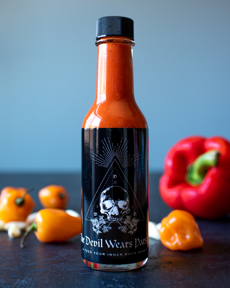 Red Macabre Hot Sauce From The OC Fair