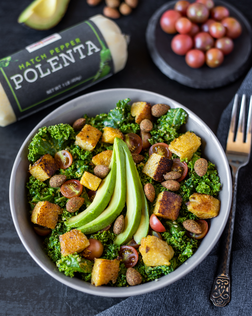 Hatch Polenta Salad with product