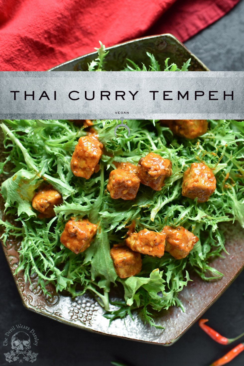 Spicy Thai Curry meets Tempeh in an epic flavor bomb!