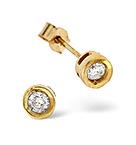 STUD EARRINGS 0.15CT DIAMOND 9K YELLOW GOLD