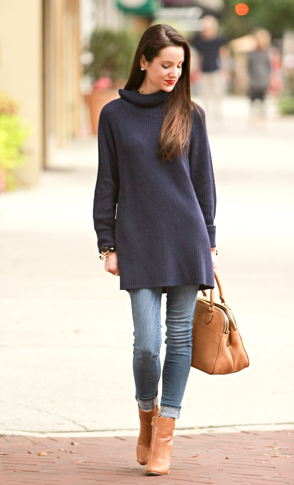 Coldwater Creek, Oversized Sweater, Navy Turtleneck, Stephanie Ziajka, Diary of a Debutante