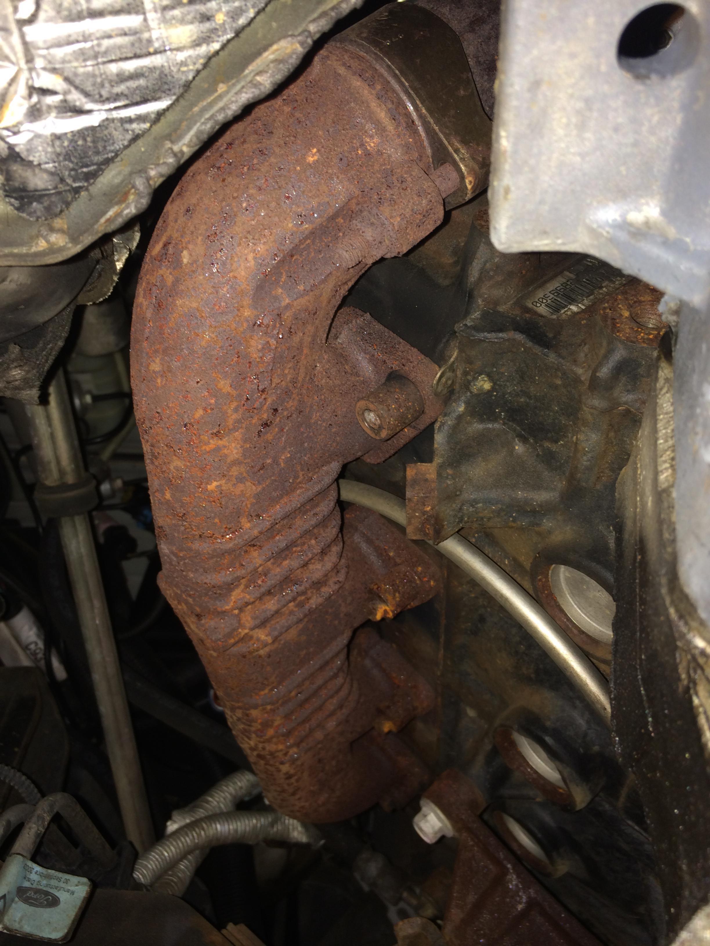 leaking exhaust manifold the diesel stop