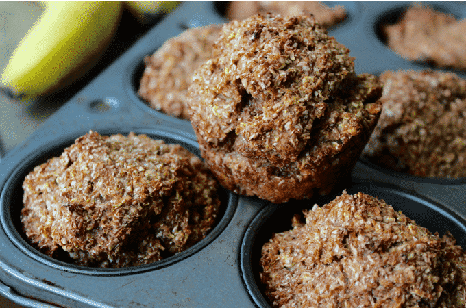 This healthy banana bran muffin recipe by The Diet Chef, is out of this world! Each muffin is packed with protein and fiber. Only 3 Weight Watcher Points Plus #Healthymuffins #WeightWatcher