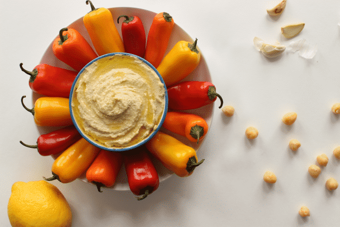 The only traditional hummus recipe you'll ever need. This hummus is filled with healthy fats, couldn't be easier to make, and it's unbelievably delicious. You've got to try this! #Healthy #recipe