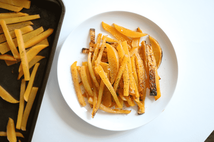 Rutabaga Fries are an amazingly healthy and delicious alternative to French Fries. These fries are ridiculously low in calories too. They're 1:3 of the calories of even sweet potato fries.