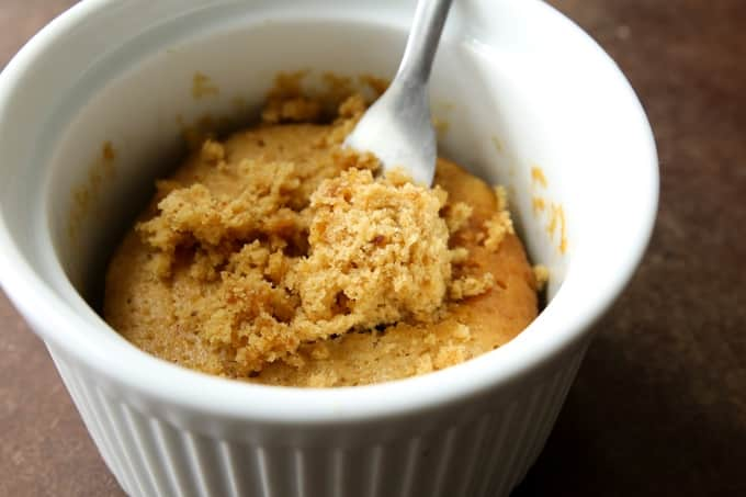 Keto peanut butter mug cake recipe.