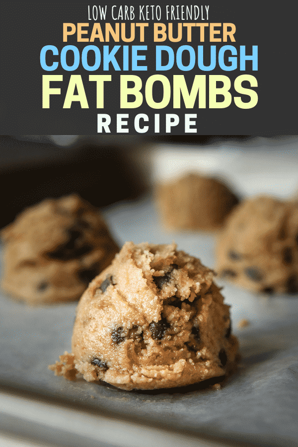Keto Peanut Butter Cookie Dough Fat bombs. #Keto #Ketosnacks #ketodiet #ketogenic #lowcarb #ketorecipes #lowcarbrecipes