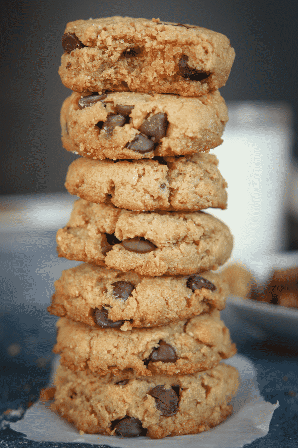 Keto Cookies! The BEST Peanut Butter Chocolate Chip Cookies Using Almond Flour, and SO EASY too