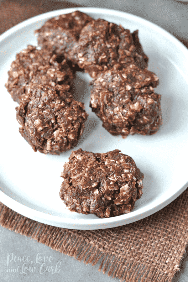 Chocolate Peanut Butter No Bake Keto Cookies