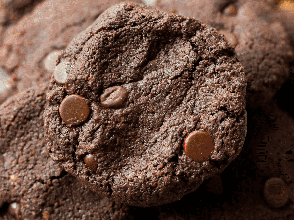 Keto chocolate cookies on a plate