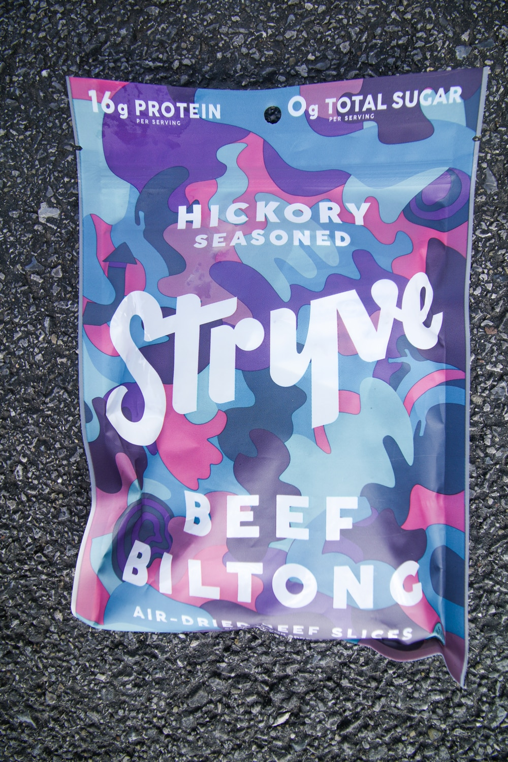 A package of hickory flavored biltong.