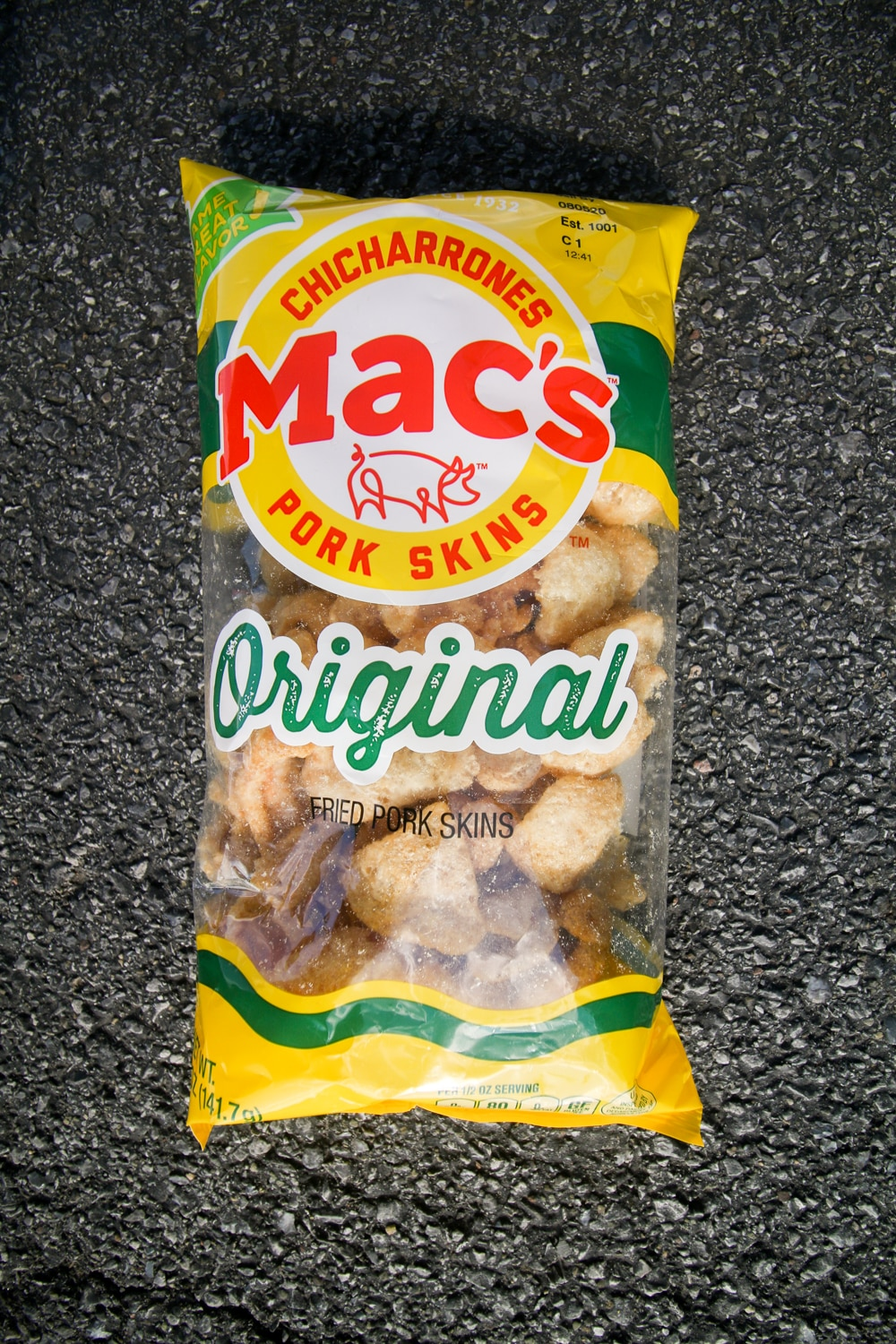 A bag of pork rinds.