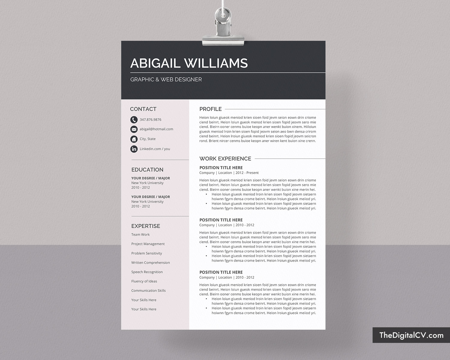 Modern Cv Template For Ms Word 2020 2021 Simple Basic Resume Template Cover Letter 1 3 Page Creative Professional Resume Job Resume Editable