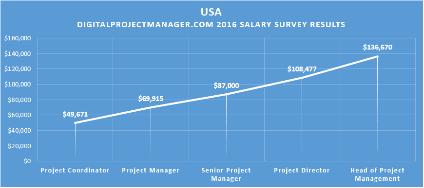 2016 #dpm digital project manager salary survey results USA