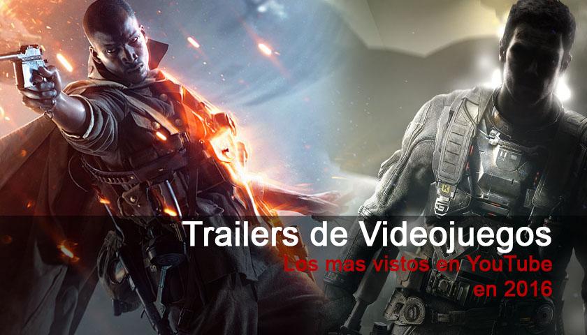 Los trailers de videojuegos mas vistos en 2016