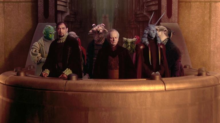 Senadores de la Antigua República Galáctica en Star Wars Episode II: Attack of the Clones
