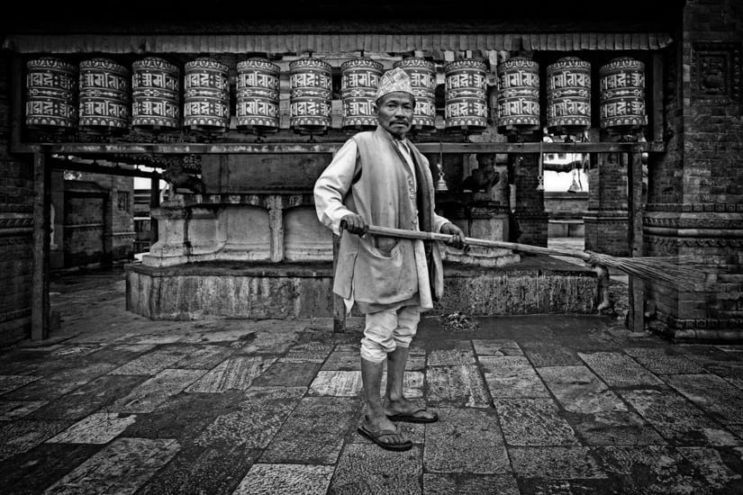 A temple sweeper.f/3.6, 1/40 sec, at 14mm, 200 ISO, on a X-Pro1